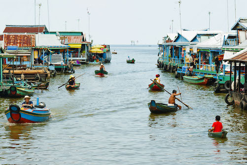 CAMBODIA FLOATING VILLAGE TONLE SAP 2